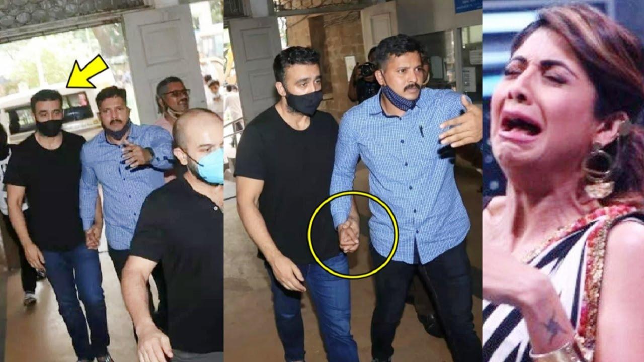 Raj Kundra Sentenced To 14 Days In Jail😱 Appeared In JJ Hospital For Medical, Shilpa Shetty Depress😭