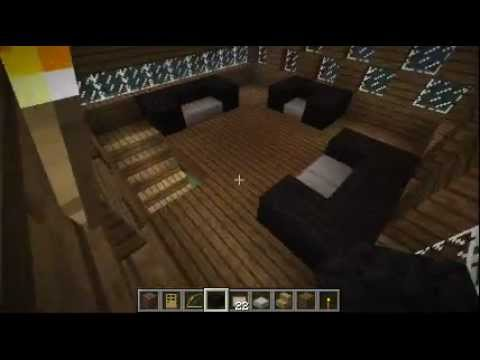 Como crear una casa moderna de madera en minecraft youtube - Como amueblar una casa ...