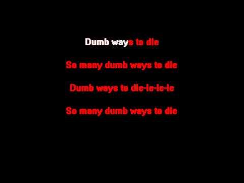 Tangerine Kitty - Dumb Ways to Die (KARAOKE)