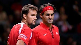 Highlights: Marco Chiudinelli/Roger Federer (SUI) v Thiemo de Bakker/Matwe Middelkoop (NED)