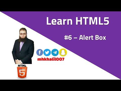 [ Learn HTML5 ] #06 - Alert Box