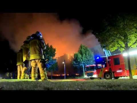Spanischer Expo-Pavillon brennt nieder
