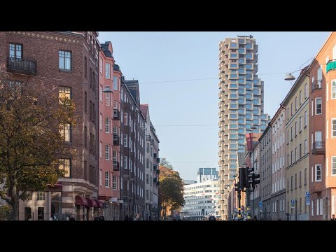 Stockholm's Tallest Residential Tower has a Pixelated Facade | The B1M