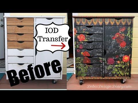 DIY Furniture Transfer and Stamps flea market makeover