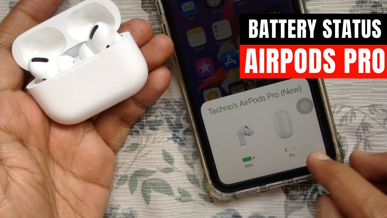 How to Check AirPods Pro Battery Status on your iPhone or ...