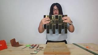 การตัดโมเสคแก้วสีทอง | Glascera Mosaic