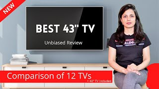 Best 43 Inch TV in India to buy in 2021 Top 40 quot to 43 quot Smart LED TV Review amp Comparison