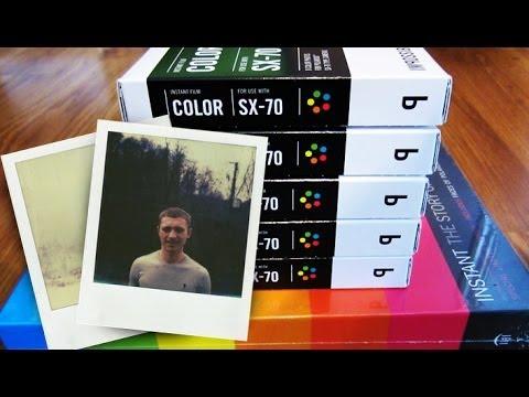 how to put 600 film in polaroid sx 70 - YouTube