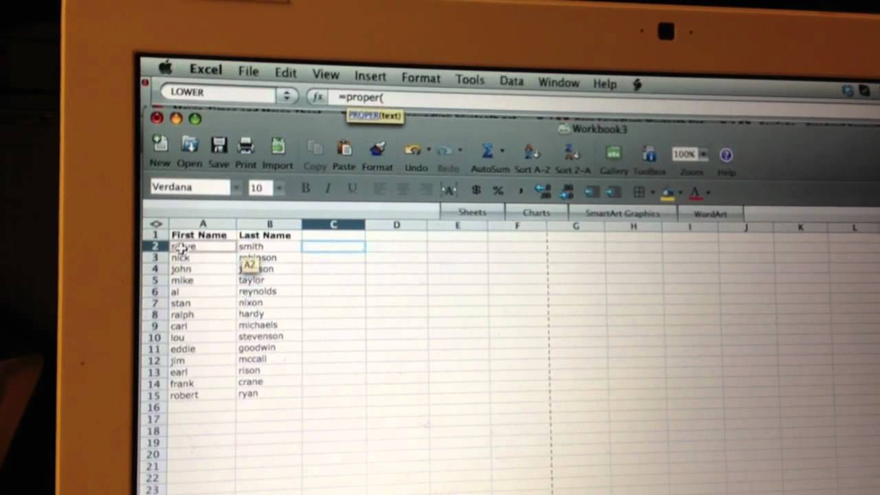 How To Capitalize The First Letter Of Words In Excel Youtube