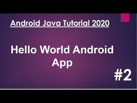 Android Java Tutorial 2020 - 02 - Hello World Android App