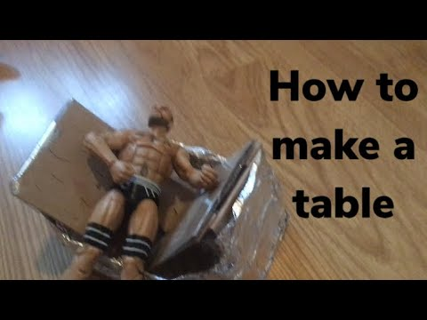 How to make a table for wwe action figures- DIY