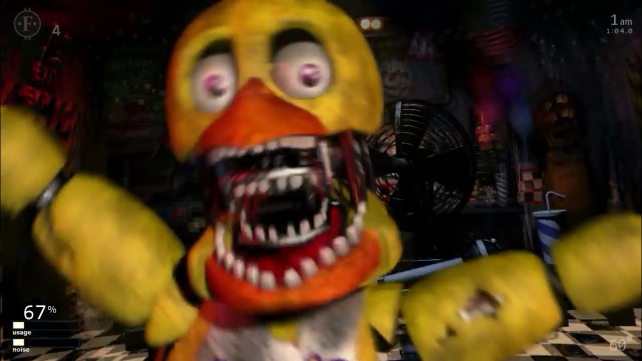 Withered Chica Jumpscare - FNAF ULTIMATE CUSTOM NIGHT