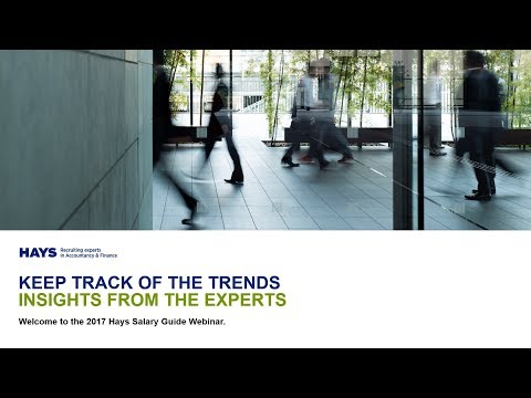 Hays Salary Guide Webinar – Trends across the Accountancy & Finance industry