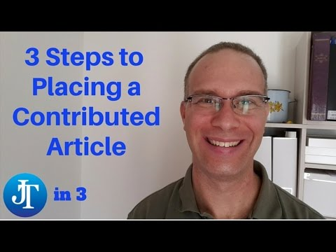 3 Steps to Placing a Contributed Article in a Trade Magazine - #JTin3