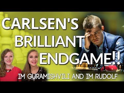 Rook Endgame 🔆A Brilliant Endgame by Magnus Carlsen - IM Guramishvili and IM Rudolf [chess24]