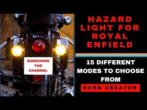 HAZARD LIGHT FOR ROYAL ENFIELD | BORN CREATOR