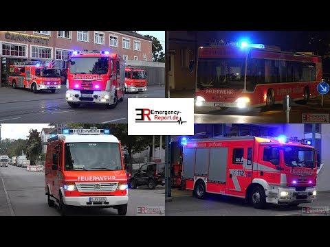 [FEUERWEHR STUTTGART] - Berufs- & Freiwillige Feuerwehr auf Einsatzfahrt -[40 Minuten Alarmfahrten]-