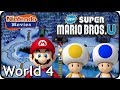Download New Super Mario Bros. U: World 4 Frosted Glacier (All Star Coins 100% Multiplayer Walkthrough)