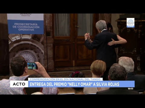 "ENTREGA DEL PREMIO ""NELLY OMAR"" A SILVIA ROJAS 10-12-18"