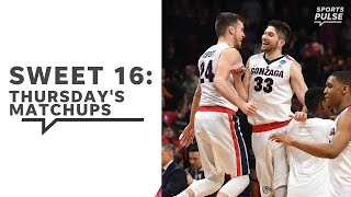 March Madness: Previewing Thursday's Sweet 16 games