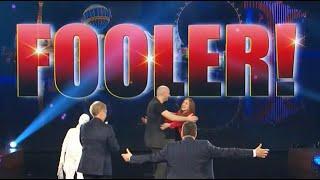 Raffaele Scircoli fools penn and Teller// Fool us: Crazy mentalism puppet act
