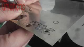 50w Fiber Laser Marking Machine Working On 0 5mm Silver