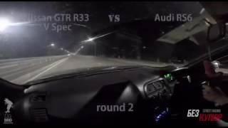 GTR R33 vs RS6 4.2 biturbo mt