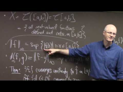 Intro Real Analysis, Lec 35, Sup Norm and Metric on C[a,b], Sequence Space, Open & Closed Sets