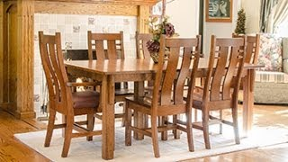 Barn Furniture - Amish Mission Leg Table Set