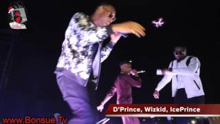 Video WIZKID ICE PRINCE and D39PRINCE perform MOLOWO NONI at the ACCESS MAVIN CONCERT