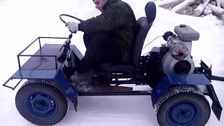 Самодельный трактор из мотоблока Урал