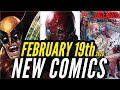 NEW COMIC BOOKS RELEASING FEBRUARY 19th 2020 MARVEL & DC COMICS PREVIEW COMING OUT THIS WEEKS PICKS