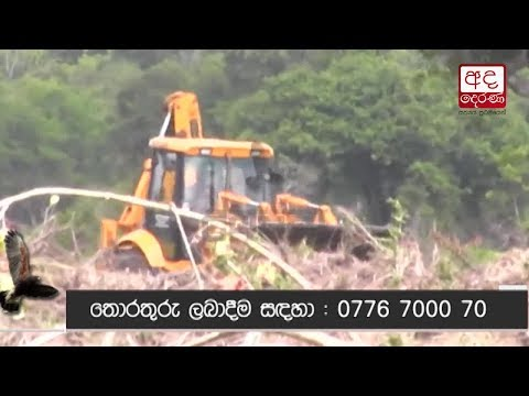 Ada Derana exposes deforestation at Maduru Oya forest reserve