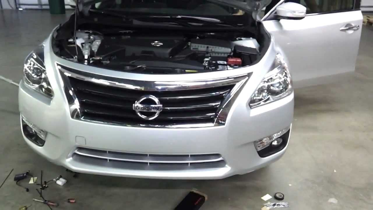 Installing an HID kit on a 2013 Nissan Altima - YouTube