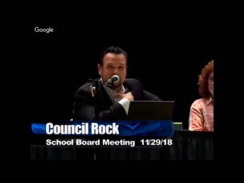 Council Rock School Board Meeting 11.29.2018