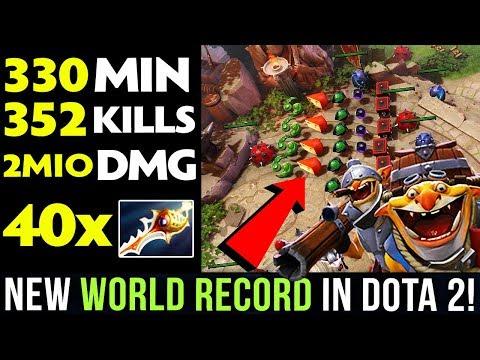 NEW WORLD RECORD IN DOTA 2! 5 hours 30 min LONGEST GAME, 40x RAPIER, 400k+ GOLD Advantage - WTF DOTA thumbnail