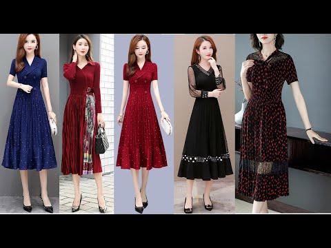Đầm trung niên dành cho người mập 2021 cao cấp u50, U40, U60 - Xu hướng thời trang trung niên 2021