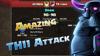 Hitmen vs TR Clans | Clan War 3 Star Highlights - Clash of Clans
