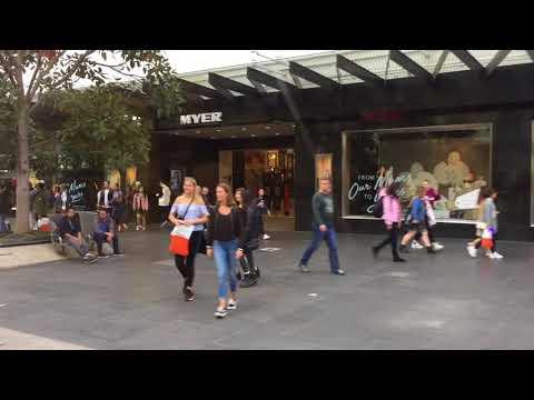 Bourke Street Mall Melbourne
