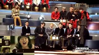 Video BTS, EXO, MONSTA X, and Ailee Reaction to Best OST Nominee Jennifer PkDavis download MP3, 3GP, MP4, WEBM, AVI, FLV November 2017