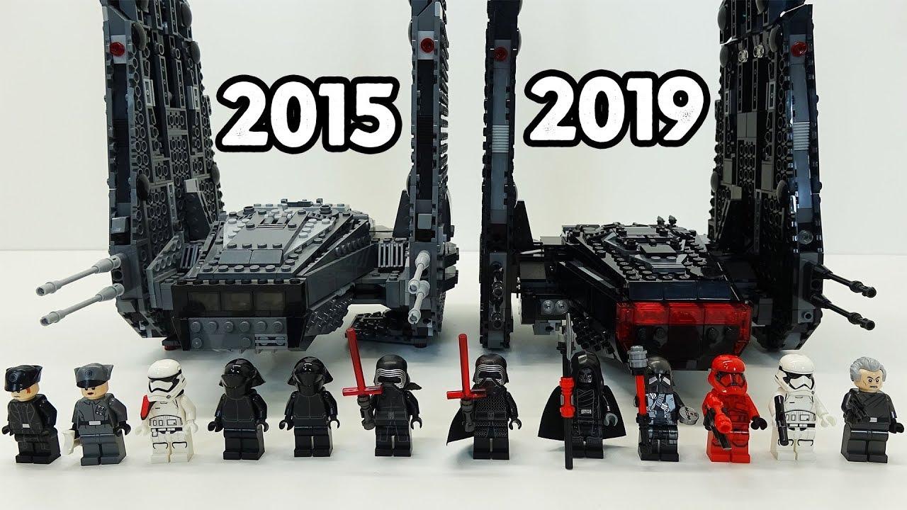 Lego Kylo Ren S Shuttle Comparison Star Wars 75104 2015 Vs 75256 2019 Youtube