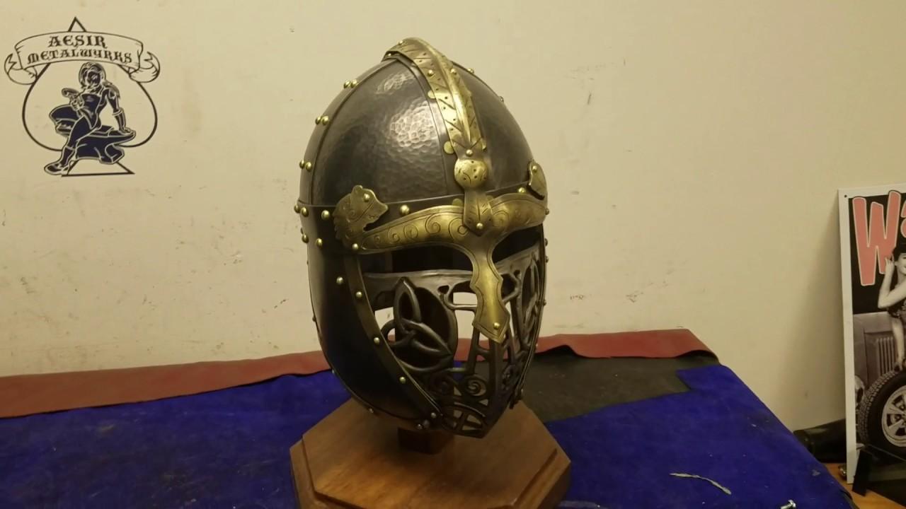 SCA Norse helmet Valsgarde 7 dtyle top