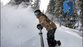 Snowboarding Powder At Squaw Valley Ski Resort California - (Season 3, Day 94)