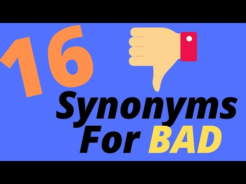 1318 Words related to BAD, BAD Synonyms, BAD Antonyms - Word