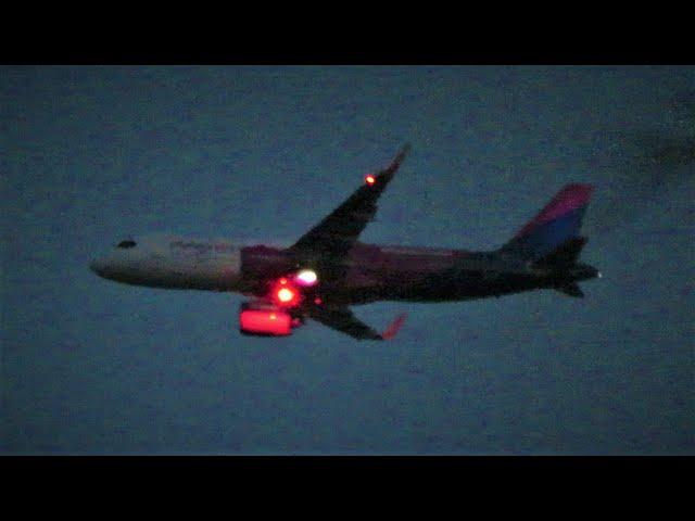 Wizz Air Airbus A320NEO HA-LJE Twilight Arrival into Liverpool Airport!