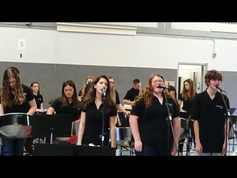 Tomales High School Pan Band Performing House of Gold & Enter Sandman
