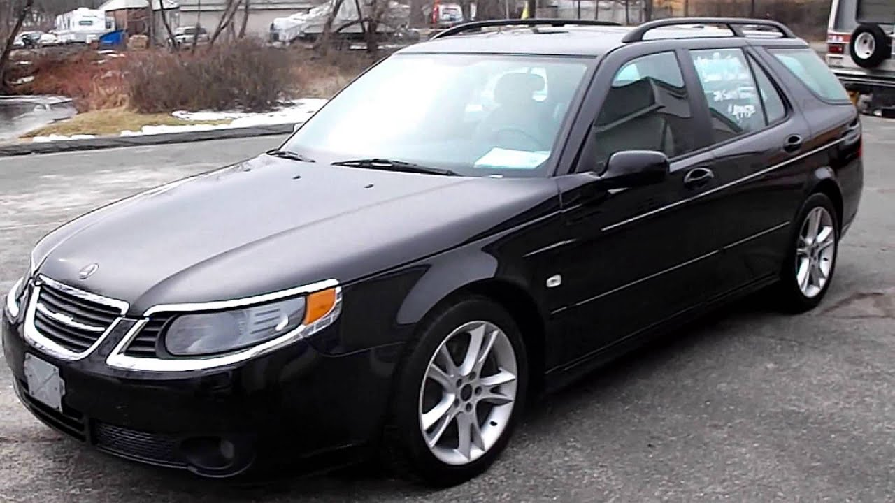2007 SAAB 9-5 4DR WAGON AERO 2.3L 4CYL TURBO AT LEATHER/MOONROOF ...