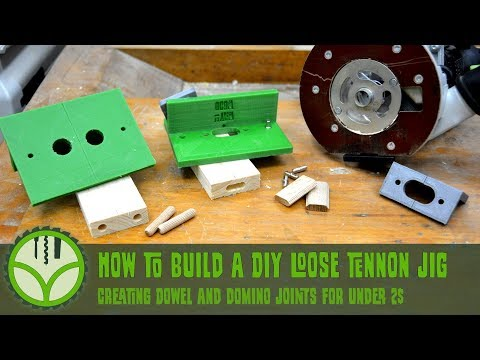 DIY 3dprinted mortise jig for loose tenon joinery with the router [Free plans]