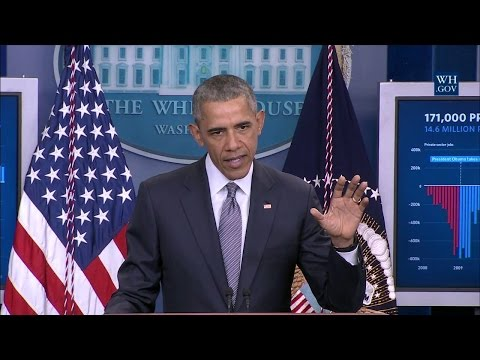 President Obama Delivers a Statement on the Economy