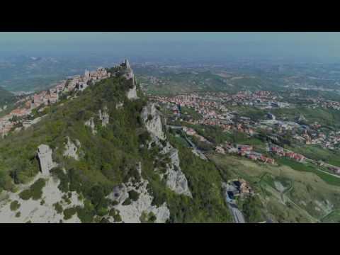 San Marino con drone in 4k